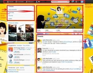 Page de profil Twitter