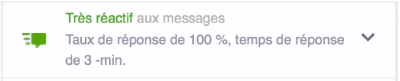 Badge réactif messages Facebook