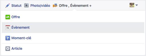 Crée un événement Facebook