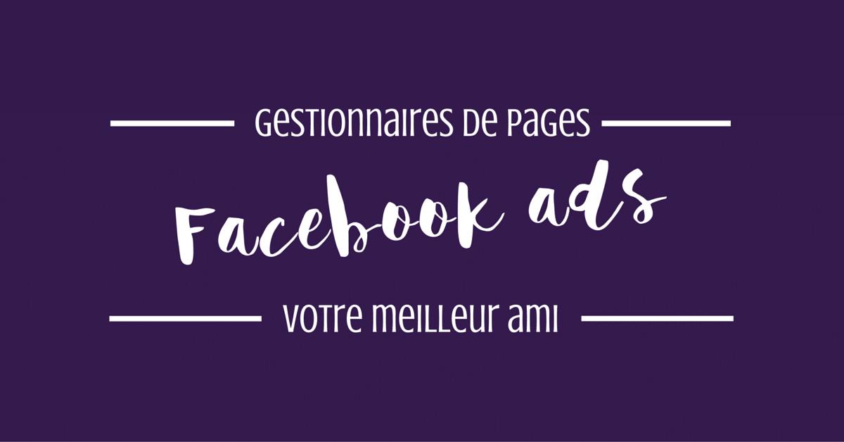 Les publicités Facebook : le meilleur ami des gestionnaires de pages pro