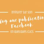 Intègre tes publications Facebook à ton blog