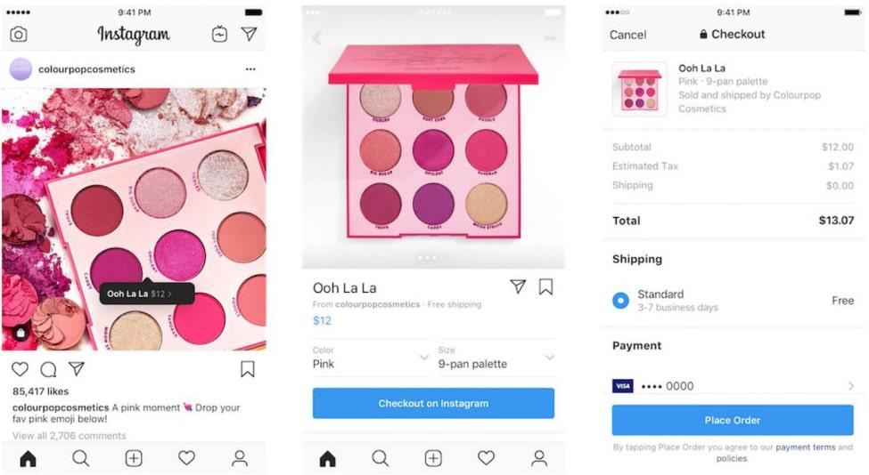 Instagram se lance dans le e-commerce avec Checkout on Instagram