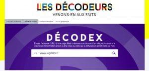 décodex est un outil de sourcing permettant de vérifier la viabilité d'une information