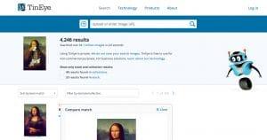 TinEyes est un outil qui permet de recherche une image quelconque