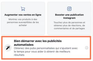 Proposition de création de Facebook Ads automatisée