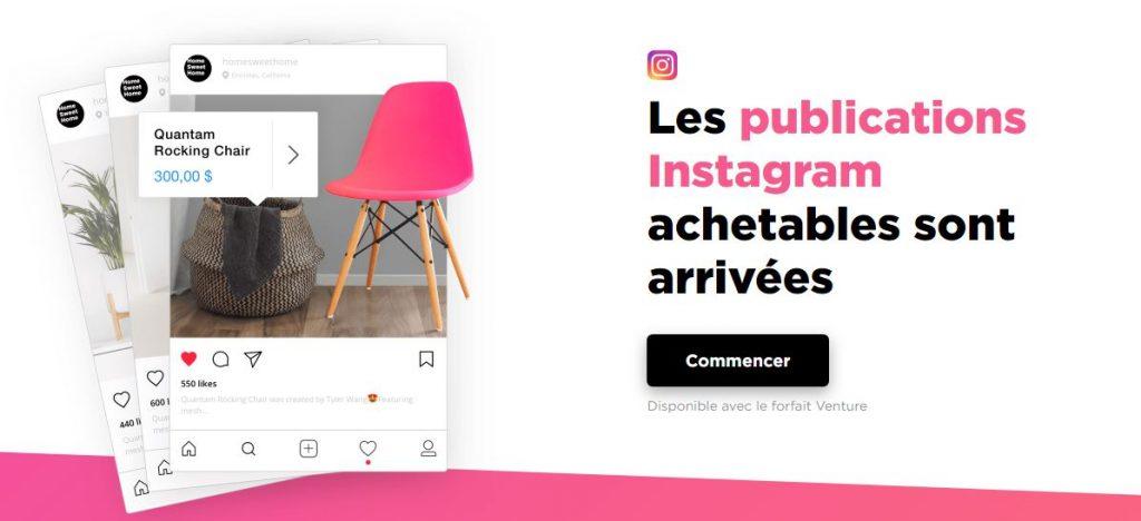 Créez votre e-commerce sur Instagram