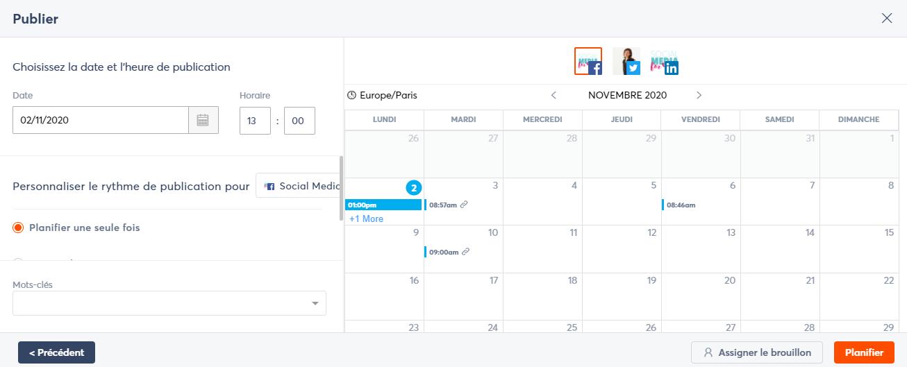 AgoraPulse plannification réseaux sociaux