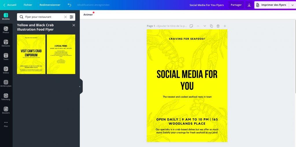 Créez vos flyers gratuitement de façon rapide avec l'outil en ligne Canva