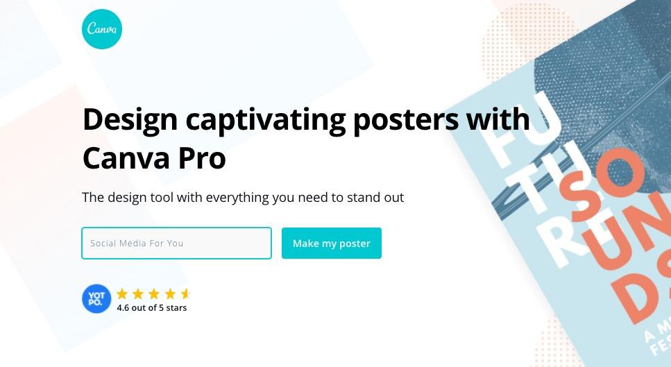 créer votre poster gratuitement sur canva