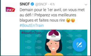 Campagne marketing SNCF 1er avril